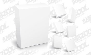 Various angles of the 3d box blank template