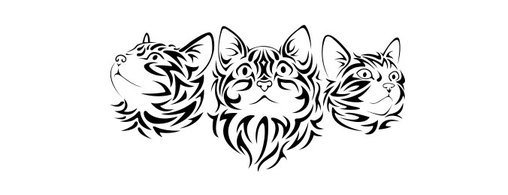 Free Tribal Cats Vectors