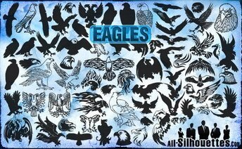 72 Vektor Eagles Clipart