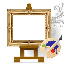 Vector drawing board easel art material