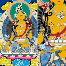 Lhamo Thangka vector Ai financial resources