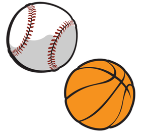 Gratis Vector basketbal en honkbal