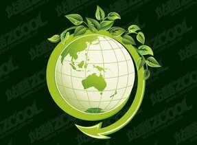 Green leaves and the Earth
