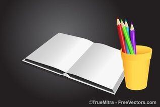 Book with Pencils