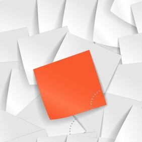 Piles of Realistic Sticky Notes Background