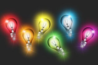 Colorful Light Bulb Vectors (Free)