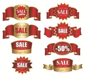 Sale Discount label vector materials