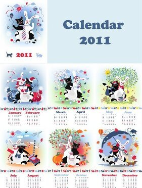 Cute 2011 Calendar Year Of The Rabbit