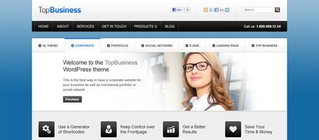 Top Business Website PSD Templates