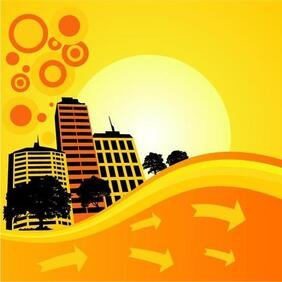 BRIGHT CITY VECTOR ILLUSTRATION.eps
