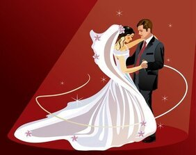 4 Wedding Wedding Theme Vector Illustrator