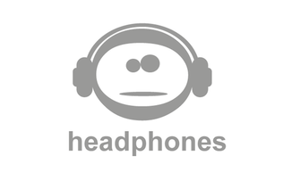 Emoticon with Headphones Logo