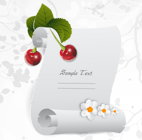 Christmas Greeting Parchment Scroll with Holly Berries Free