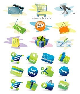2 sets of shopping icon