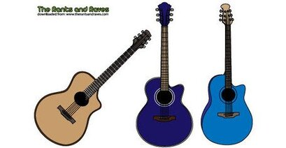 Free Vector Acoustic Guitars