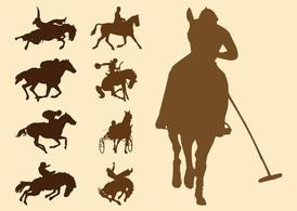 Paardensport silhouetten