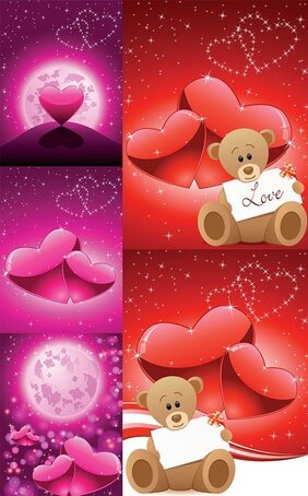 Romantic Love Bear Vector Romantic Valentine's Day Love