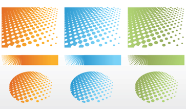 Dotted Halftone Background Vector Free