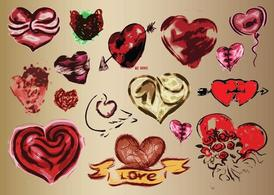 Hearts Vector Art Drawings