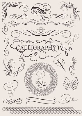 Caligraphy Design Elements