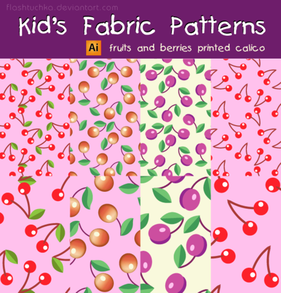 Kid's Fabric Seamless Patterns - Fruits and Berries