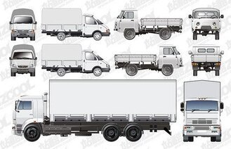 A variety of truck