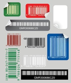 Bar code stickers