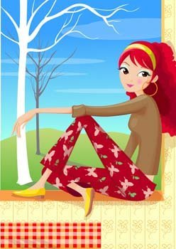 Sit girl position vector 39