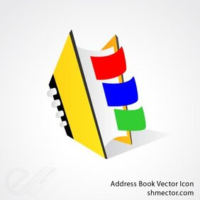 Address book vector icon
