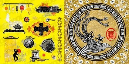 Phoenix Chinese traditional elements of