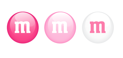 Pink M&M Candies