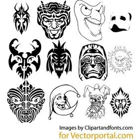 MASKS FREE VECTOR SET.eps