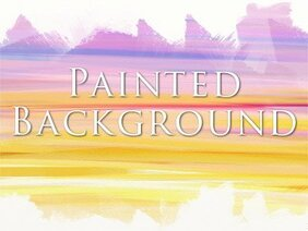 Painted sunset background