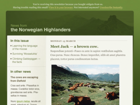 'Natura' Email Template PSD di 45royale
