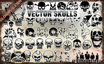 48 vector schedels Clipart