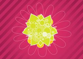 Pink Flower Design Background