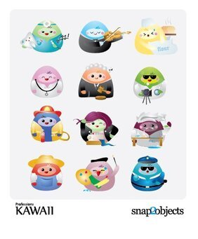 Free Vector Kawaii Professions Icons