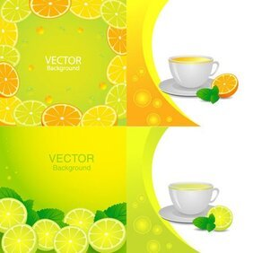 Fresh orange juice elements