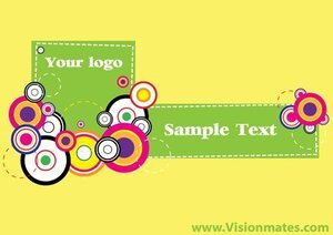 Banner Vector Retro Yellow Background
