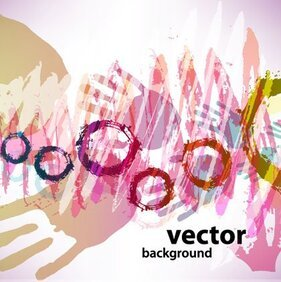 Hand Paints bstract Vector Backgrounds
