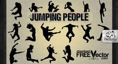 Vector Jumping People