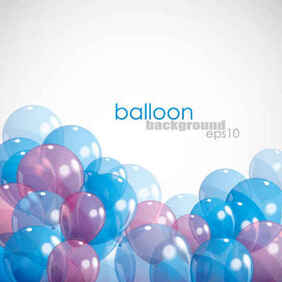 Balloon Background EPS