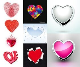 Heart-shaped element pattern