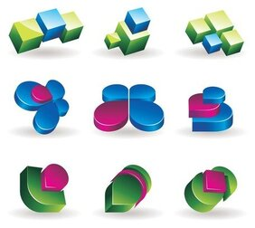 threedimensional vector graphics icon