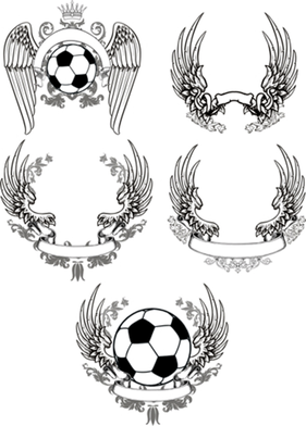 Scrolled Wings Designs