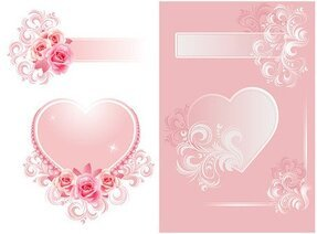 Two heart-shaped pattern vector material Fantasy