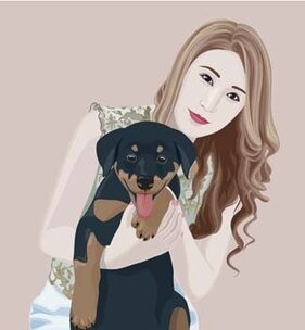 Girl and dog 7