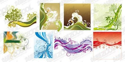 Fluctuations in line vector material elements and patterns