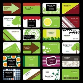 Green Theme Card Template