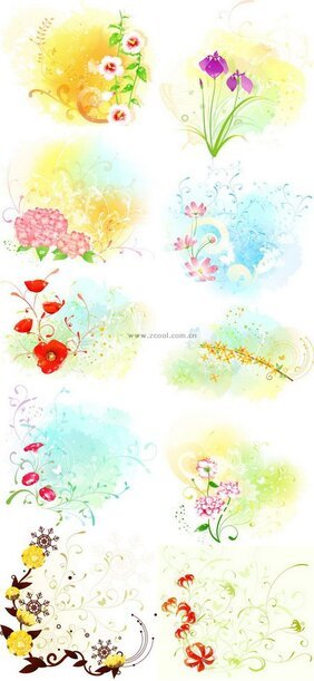 Exquisite floral series vector material - Part 4 Series (10P